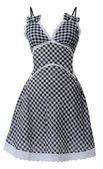 Checkered sundress — Stock Photo