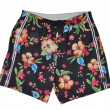 Men flowers shorts - Stock Photo