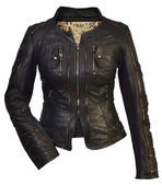 Women leather jacket — ストック写真