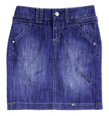 Blue jeans skirt — Stock Photo