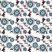 Naadloze patroon met wervelende decoratieve bloemen elementen — Stockvector