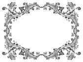 Design rámu s černými vířící dekorativní prvky ornament — Stock vektor