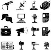 Conjunto de ícones de dezesseis — Vetor de Stock