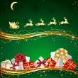 Royalty-Free Stock Vector Image: Presents on green background