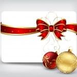 Noel topları ile tatil arka plan — Stok Vektör