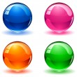 Multicolored balls — Stock Vector