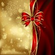 Royalty-Free Stock Vector Image: Christmas background with decorative bow