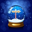Christmas Snow globe with North pole sign — Stock Vector #10759518