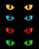 Set of evil eyes — Stock Vector