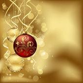ぼやけたライトとクリスマスのつまらないもの — ストックベクタ
