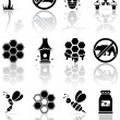 Bee icons — Vettoriali Stock