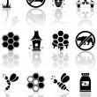Bee icons — Stock Vector