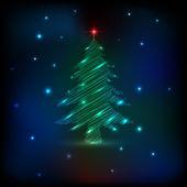 Sketch Christmas tree — Stock Vector