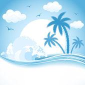 Tropical theme — Stock Vector
