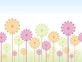 Bezešvé květinové pozadí — Stock vektor