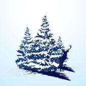 Tarjeta de Navidad Grunge — Vector de stock