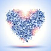 Frozen heart — Stock Vector