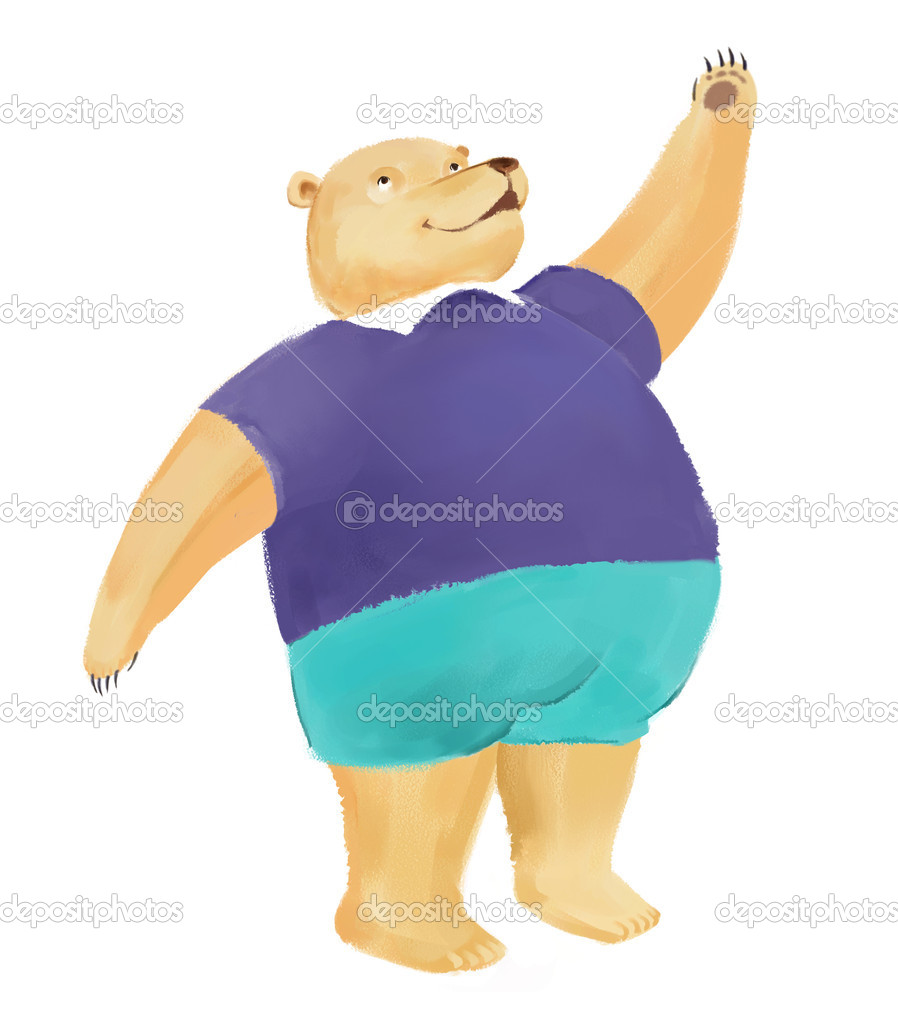 A cute bear with white background — Stock Photo #10754828