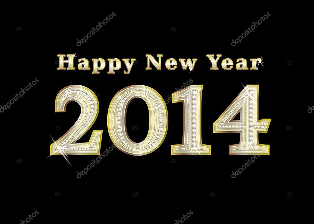 تهنئة بمناسبة العام الجديد 2014 depositphotos_107574