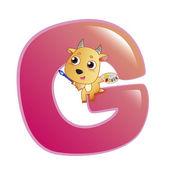 Djur alfabetet g — Stockvektor