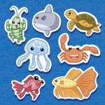 Cute sea animal stickers 03 — Stock Vector #11693512