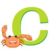 Animal alphabet C — Stock Vector