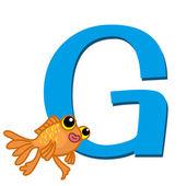 Alfabeto animal g — Vector de stock