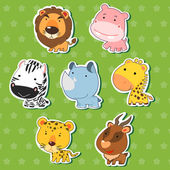 Cute animal stickers 09 — Stok Vektör