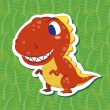 Royalty-Free Stock Vector Image: Cute dinosaur sticker01