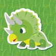 Cute dinosaur sticker06 — Stock Vector