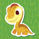 Cute dinosaur sticker04 — Stock Vector
