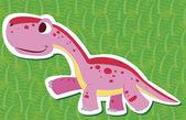 Cute dinosaur sticker09 — Stock Vector