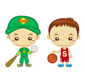Kids and sports01 — Stock Vector