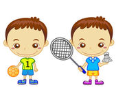 Kids and sports07 — Stock Vector