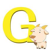 Animal alphabet G — Stock Vector