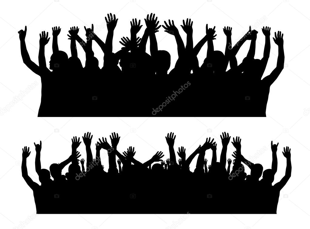 Crowd Silhouette hd Crowd Silhouette Vector by