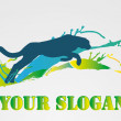 Stockvector : COLOURFUL SLOGAN of MOVEMENT 2