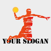 Basketbal slogan — Stockvector