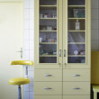 Cupboard and chair of a medical center — Стоковая фотография
