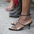 Female legs in a high heel shoes — Stock Photo