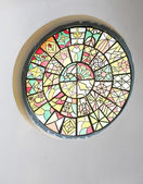 Decorative interrior stained glass window — Stock Photo
