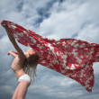 Stock Photo: Young girl with shawl