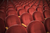Auditorum red chairs — Stock Photo