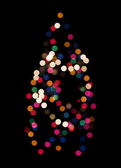 Christmas tree lights abstract — Stock Photo
