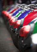 Row of mopeds — Stock Photo