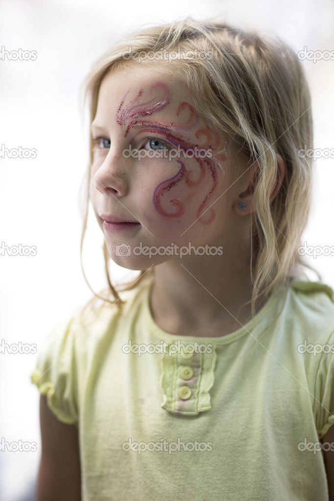 Girl with painted face  Stock Photo #11900167