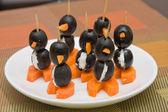 Tartine sotto forma di un pinguino — Foto Stock