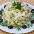 Russian traditional salad olivier — Stock Photo #10782752