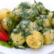 Potatoes and tomatoes with herbs — Stock Photo #10789981