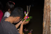Loy Krathong festival in Chiang Mai Thailand — Stock Photo